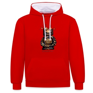 Funny Little Robot  - Contrast Colour Hoodie