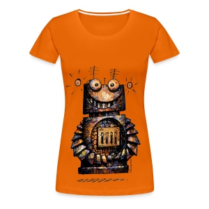Funny Little Robot  - Women's Premium T-Shirt