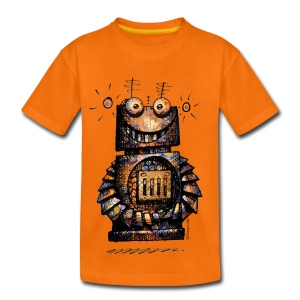 Funny Little Robot  - Kids' Premium T-Shirt