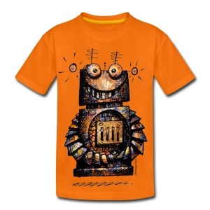 Funny Little Robot  - Teenage Premium T-Shirt