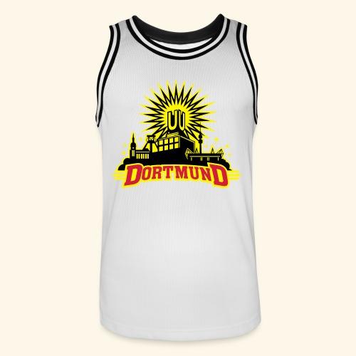 Dortmund, dreifarbig, Girlie - Männer Basketball-Trikot