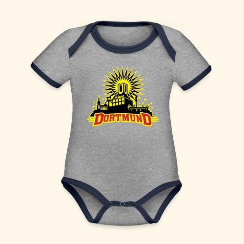 Dortmund, dreifarbig, Girlie - Baby Bio-Kurzarm-Kontrastbody