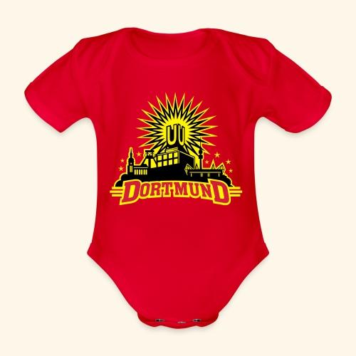 Dortmund, dreifarbig, Girlie - Baby Bio-Kurzarm-Body