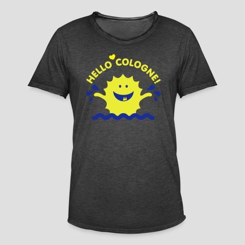 Rhein Monster | Hello Cologne! - Männer Vintage T-Shirt
