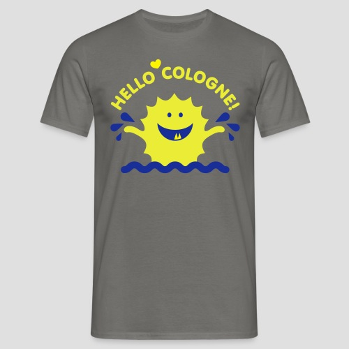 Rhein Monster | Hello Cologne! - Männer T-Shirt