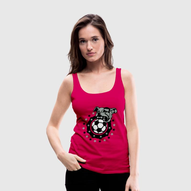 football soccer club logo dog pitbull dog - Women's Premium Tank Top