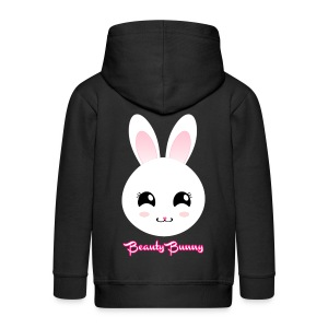 Beauty Bunny Hase Rosa Top Girl - Kinder Premium Kapuzenjacke