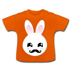 Moustache Bunny Hase Rosa Top - Baby T-Shirt