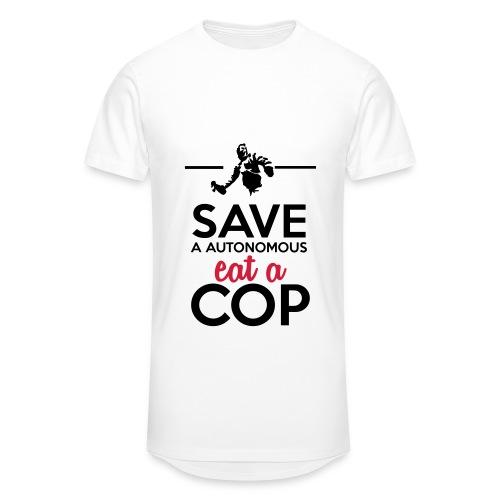 Autonome & Polizei - Save a Autonomous eat a Cop - Männer Urban Longshirt