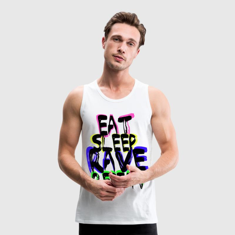 Rave Repeat T-shirts - Mannen Premium tank top