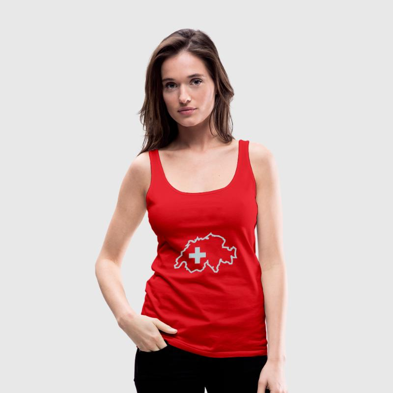 Red Switzerland Ladies' - Women's Premium Tank Top
