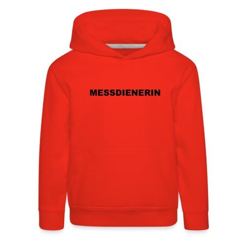 MESSDIENERIN-ora. green (Girls) - Kinder Premium Hoodie