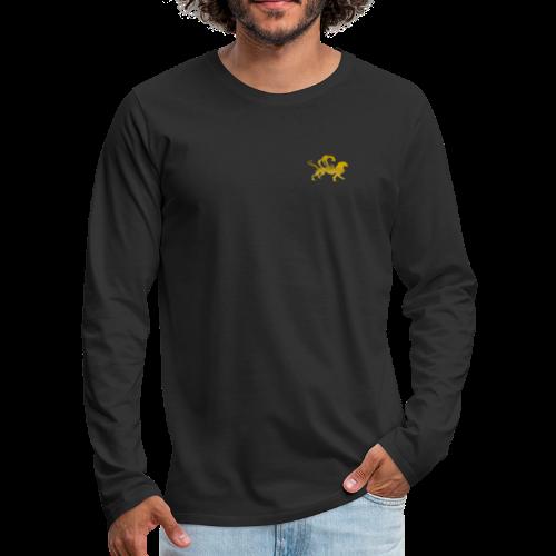 Männer Muskelshirt schwarz Fabelwesen - Männer Premium Langarmshirt