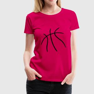 Pink Basketball Tops - Frauen Premium T-Shirt