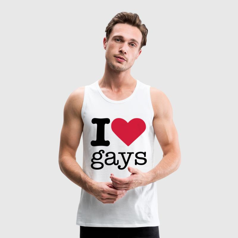 I Love Gays T-Shirts - Men's Premium Tank Top