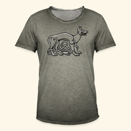 Celtic Dog, Kerlie - Männer Vintage T-Shirt