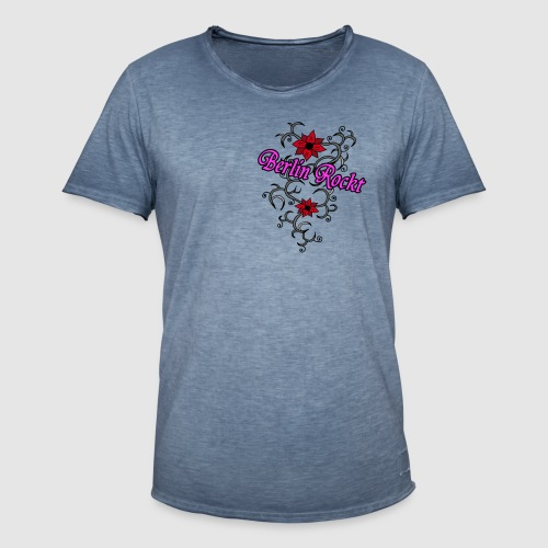 Berlin Rockt - Männer Vintage T-Shirt