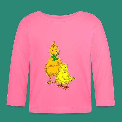 Kinder T Shirt Küken - Baby Langarmshirt