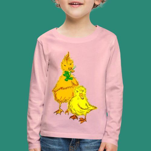 Kinder T Shirt Küken - Kinder Premium Langarmshirt