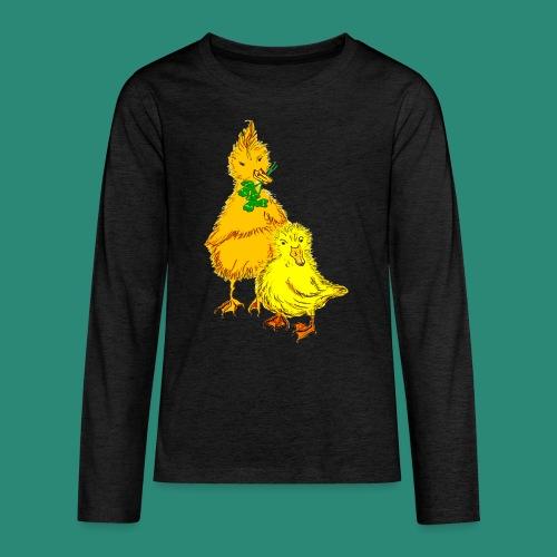 Kinder T Shirt Küken - Teenager Premium Langarmshirt