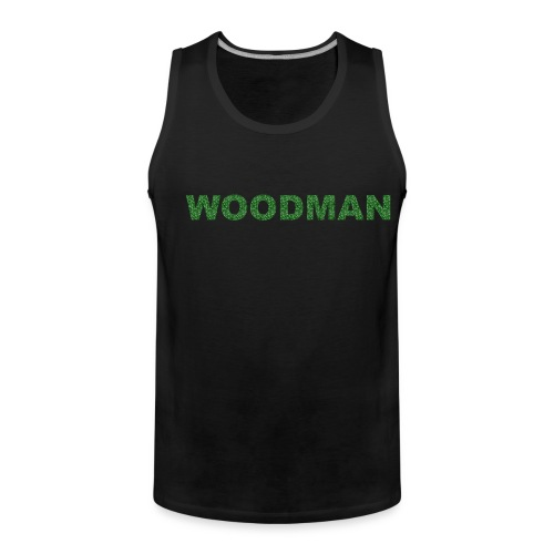 Silver WOODMAN, Men's Tank Top, black - Men's Premium Tank Top