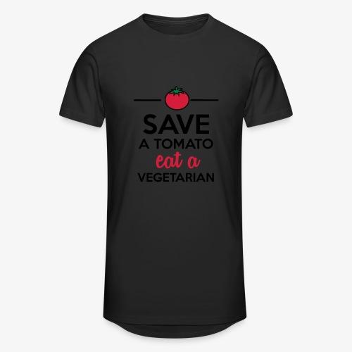 Tomaten & Gemüse - Save a Tomato eat a Vegetarian - Männer Urban Longshirt