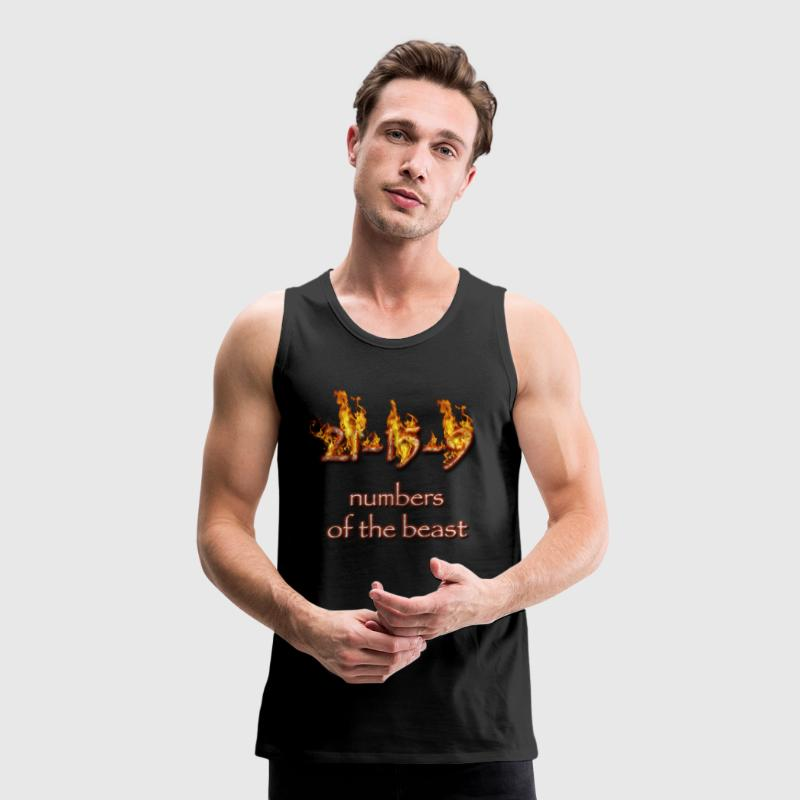 21-15-9 numbers of the beast T-Shirts - Men's Premium Tank Top