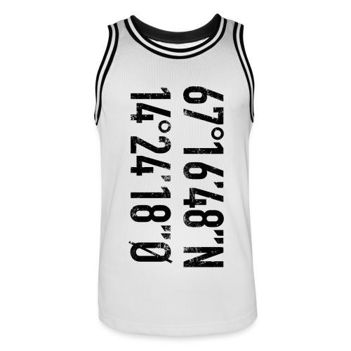 Bodø koordinater - Basketballdrakt for menn