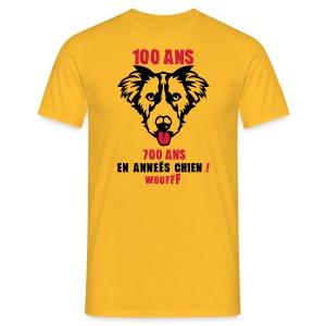 100 Ans année de chien - T-shirt Homme
