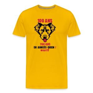 100 Ans année de chien - T-shirt Premium Homme
