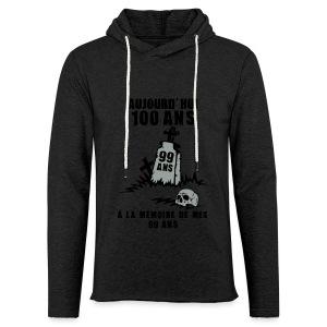 100 Ans memoire - Sweat-shirt à capuche léger unisexe