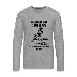 100 Ans memoire - T-shirt manches longues Premium Homme
