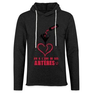 100 Ans arteres - Sweat-shirt à capuche léger unisexe