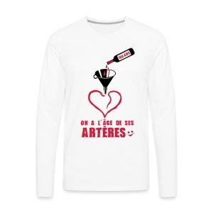 100 Ans arteres - T-shirt manches longues Premium Homme