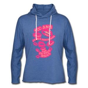 100 Ans gros bisous - Sweat-shirt à capuche léger unisexe
