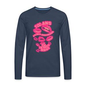 100 Ans gros bisous - T-shirt manches longues Premium Homme