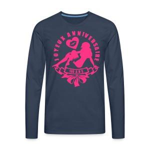 100 Ans bisous fille - T-shirt manches longues Premium Homme