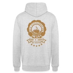 100 Ans x année de café - Sweat-shirt à capuche unisexe