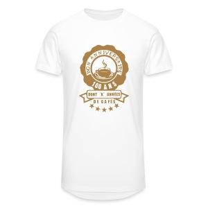100 Ans x année de café - T-shirt long Homme