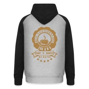 100 Ans x année de café - Sweat-shirt baseball unisexe