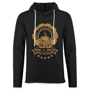 100 Ans x année de café - Sweat-shirt à capuche léger unisexe