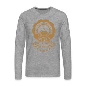 100 Ans x année de café - T-shirt manches longues Premium Homme