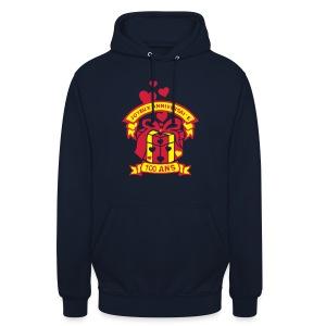 100 Ans cadeau - Sweat-shirt à capuche unisexe