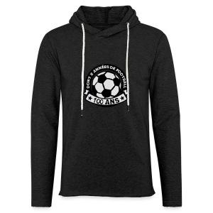 100 Ans x année de foot - Sweat-shirt à capuche léger unisexe