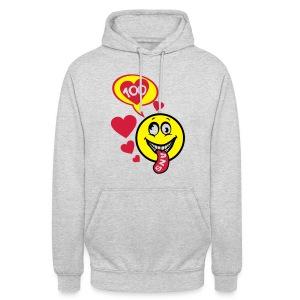 100 Ans smiley tire la langue - Sweat-shirt à capuche unisexe
