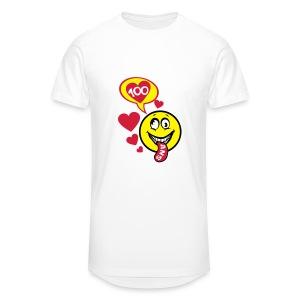 100 Ans smiley tire la langue - T-shirt long Homme