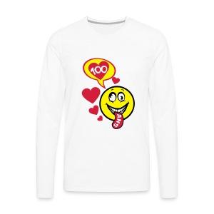100 Ans smiley tire la langue - T-shirt manches longues Premium Homme