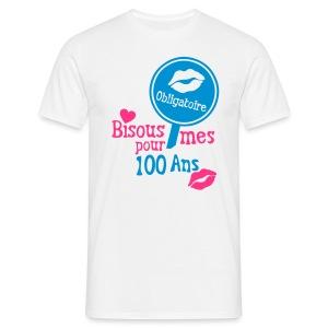 100 Ans bisous obligatoire - T-shirt Homme
