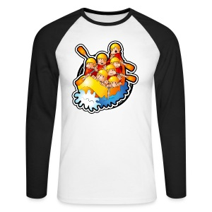 89. Raft - Men's Long Sleeve Baseball T-Shirt