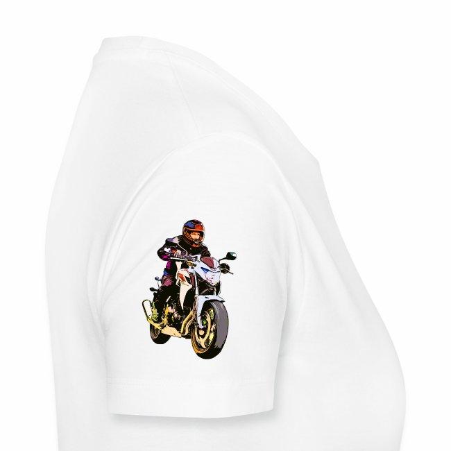 Motorradfahrer Comic